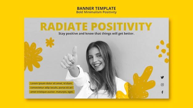 Poziomy baner dla pozytywizmu
