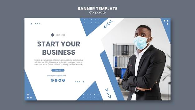 Poziomy baner dla profesjonalnego biznesu