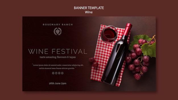 Poziomy baner do degustacji wina