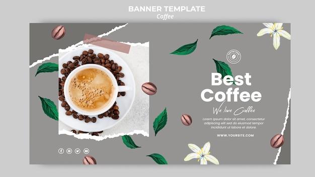 Poziomy baner do kawy