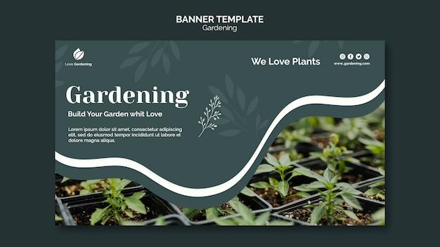 Poziomy baner do ogrodnictwa