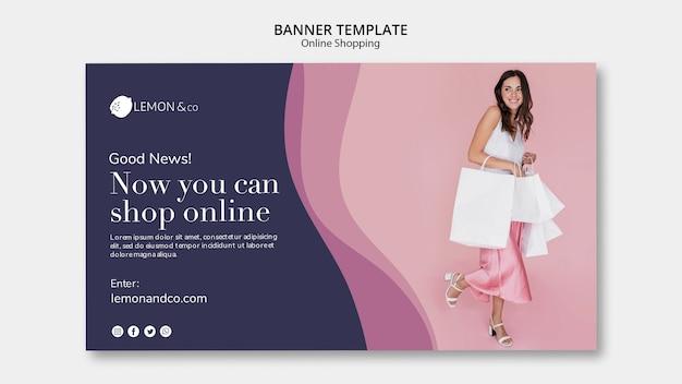 Poziomy baner do sprzedaży online mody