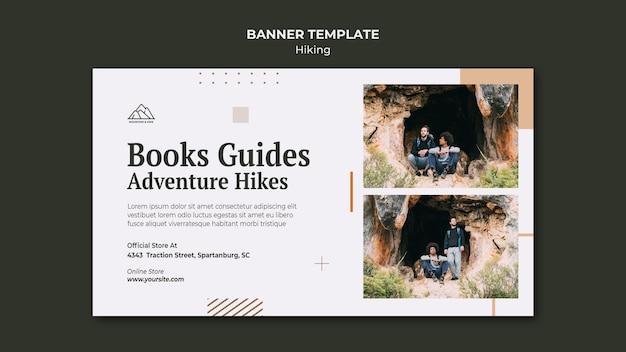 Poziomy baner do uprawiania turystyki pieszej w przyrodzie