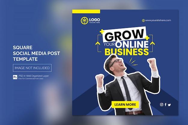 Poziomy baner internetowy do reklamy biznesowej online