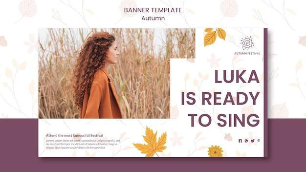 Poziomy baner na jesienny koncert