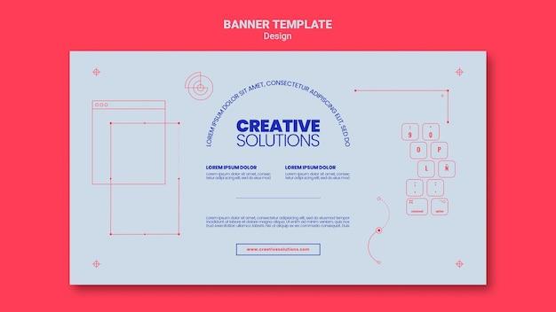 Poziomy baner szablon dla kreatywnych rozwiązań biznesowych