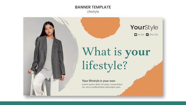 Poziomy baner szablon dla osobistego stylu życia