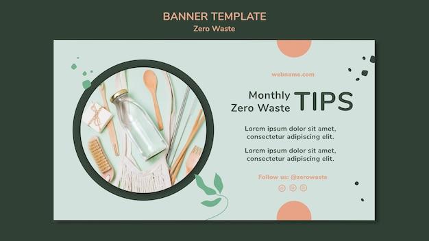 Poziomy baner szablon dla stylu życia zero waste