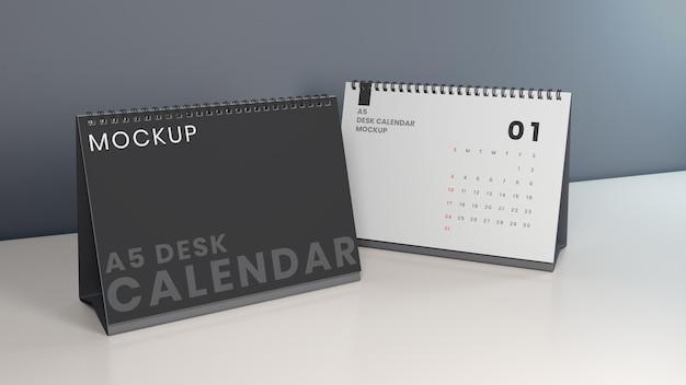 Poziomy projekt makiety kalendarza na biurko