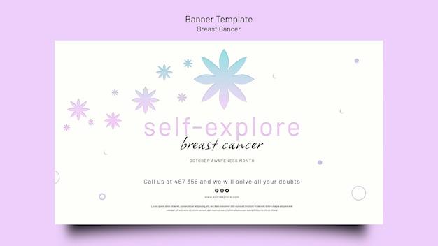 Poziomy szablon transparentu świadomości raka piersi