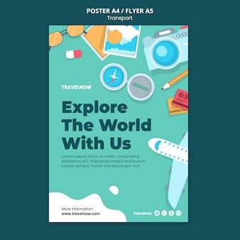 Poznaj szablon plakatu świata