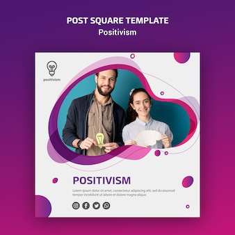 Pozytywizm koncepcja post kwadratowy szablon