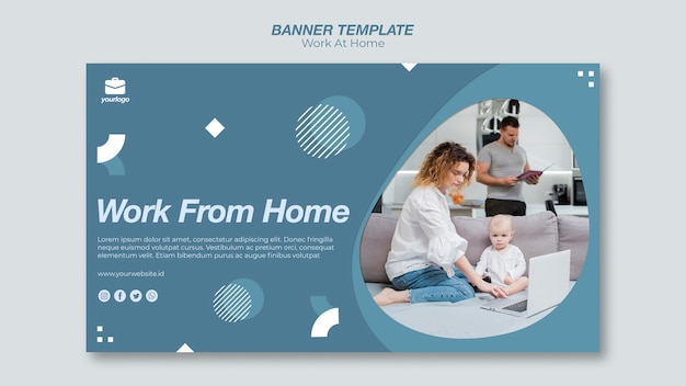 Praca z szablonu baneru domowego