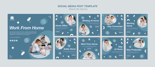 Pracuj z domowej kolekcji postów na instagramie