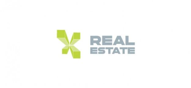 Prawdziwy szablon logo nieruchomości