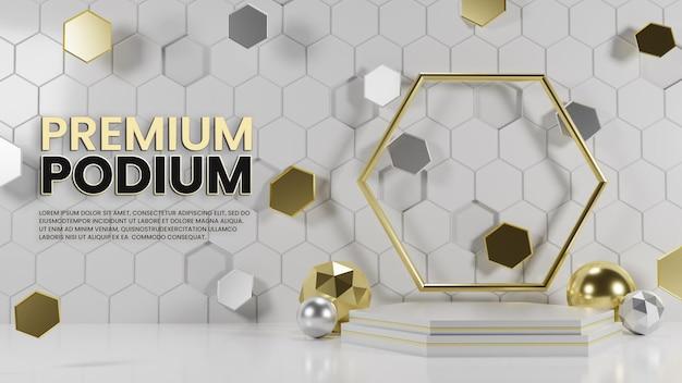 Premium luksusowe sześciokątne podium