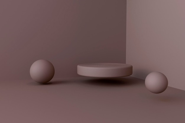 Prezent renderowania 3d z wyświetlaczem scenicznym
