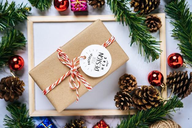 Prezent świąteczny tag psd