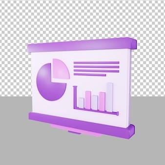 Prezentacja danych ilustracja 3d biznes