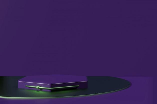 Prezentacja produktu platformy podium w kreatorze scen renderingu 3d