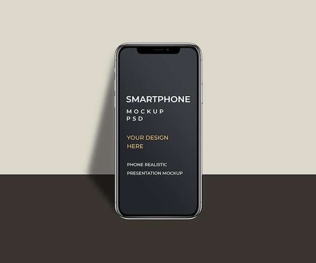 Prezentacja smartfona makieta na białym tle