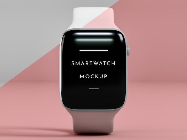 Prezentacja widoku z przodu na smartwatch z makietą ekranu