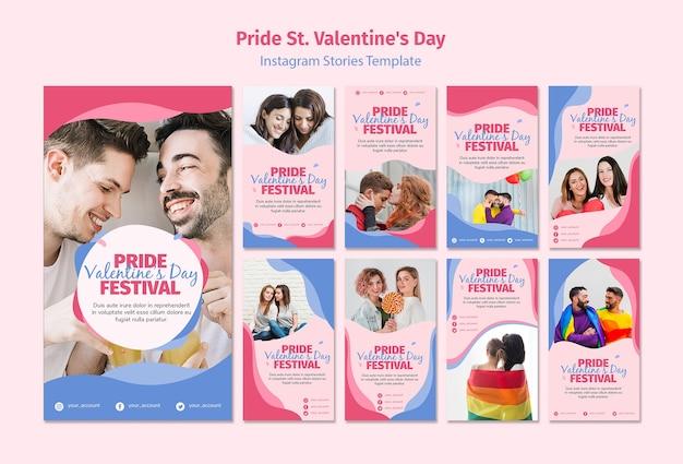 Pride st. walentynki instagramowe historie na instagramie