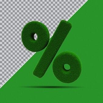 Procent symbolu 3d z trawy