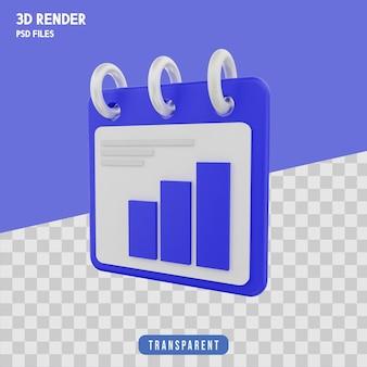 Procentowa notatka renderowania 3d izolowana premium
