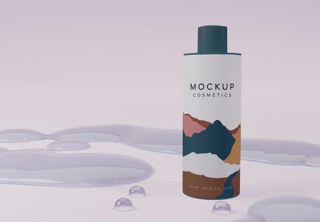 Produkt kosmetyczny i bąbelki