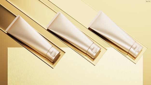 Produkt kosmetyczny na złocie