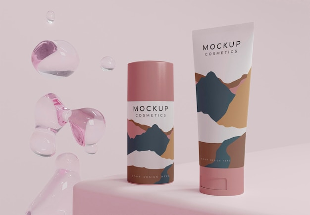 Produkty kosmetyczne i bąbelki