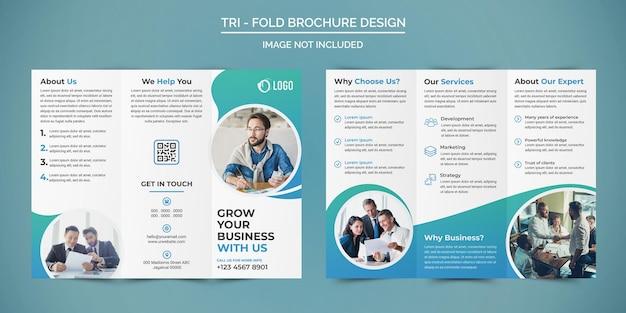 Profesjonalny biznesowy projekt broszury trójdzielnej
