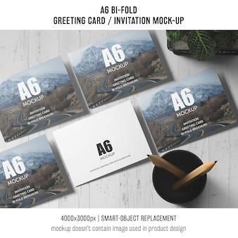 Profesjonalny szablon karty zaproszenie a6 bi-fold