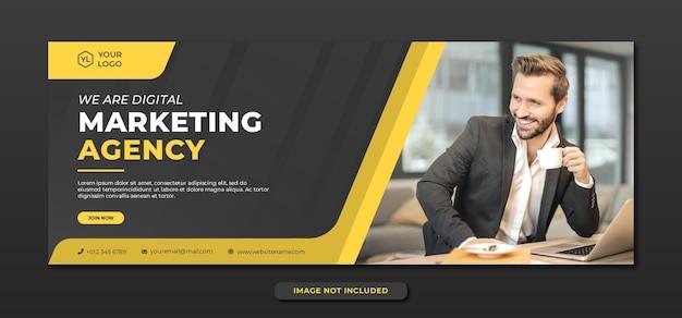 Profesjonalny szablon transparentu agencji marketingu cyfrowego