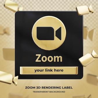Profil ikony transparentu na powiększenie 3d renderowania etykiety na białym tle