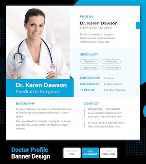 Profil lekarza wznawia się lub projektu cv