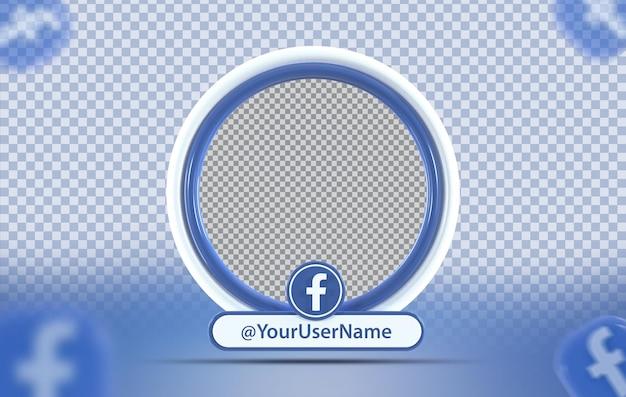 Profil makiety koncepcji kreatywnej z ikoną facebook