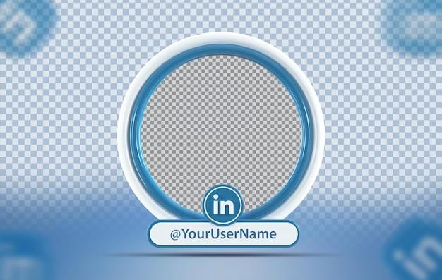 Profil makiety koncepcji kreatywnej z ikoną linkedin