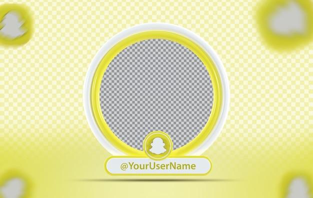 Profil makiety koncepcji kreatywnej z ikoną snapchat
