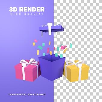 Program nagród za renderowanie 3d dla lojalnych klientów i zwycięzców prezentów