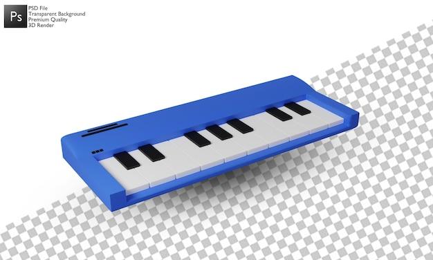 Projekt 3d ilustracji fortepianu