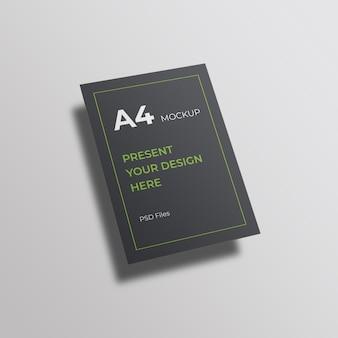 Projekt a4 makieta psd