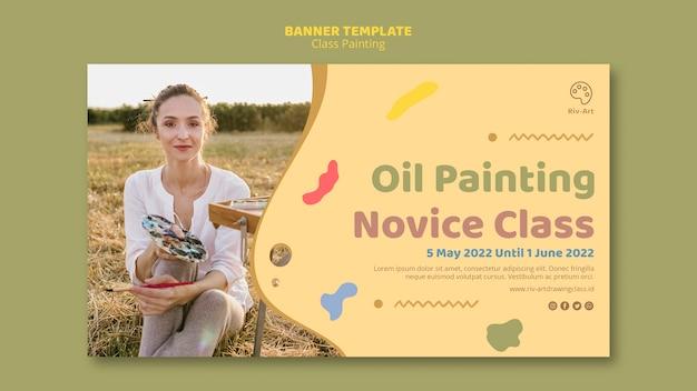 Projekt banera klasy malarstwo