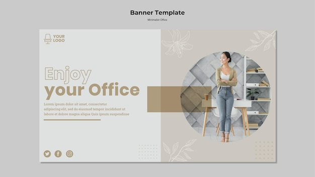 Projekt banera koncepcja minimalizmu