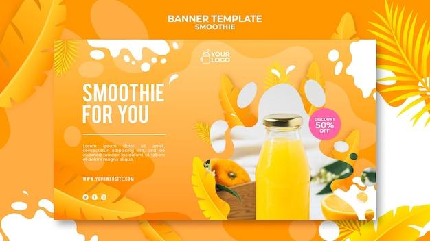 Projekt banera smoothie