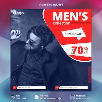 Projekt banerów społecznościowych dla mężczyzn