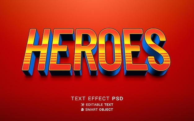 Projekt bohatera efektu tekstu