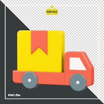 Projekt ciężarówki dostawczej 3d