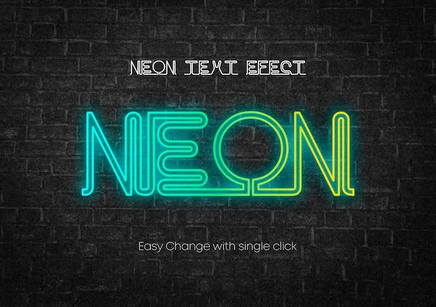 Projekt efektu tekstowego w stylu neonowym